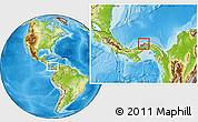 Physical Location Map of Portobelo