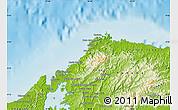 Physical Map of Portobelo