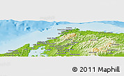 Physical Panoramic Map of Portobelo