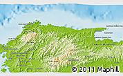 Physical 3D Map of Santa Isabel