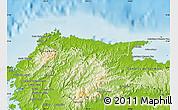 Physical Map of Santa Isabel