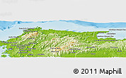 Physical Panoramic Map of Santa Isabel