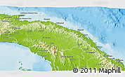 Physical 3D Map of Comarca de San Blas