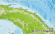 Physical Map of Comarca de San Blas
