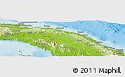 Physical Panoramic Map of Comarca de San Blas