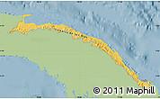 Savanna Style Map of Comarca de San Blas, single color outside