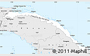 Silver Style Simple Map of Comarca de San Blas