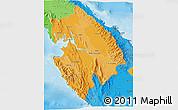 Political Shades 3D Map of Darien