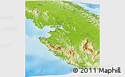 Physical Panoramic Map of Chepigana