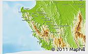 Physical 3D Map of Sambu