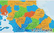 Political 3D Map of Herrera