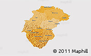 Political Shades 3D Map of Herrera, cropped outside