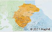 Political Shades 3D Map of Herrera, lighten