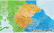 Political Shades 3D Map of Herrera
