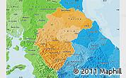 Political Shades Map of Herrera