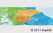 Political Shades Panoramic Map of Herrera