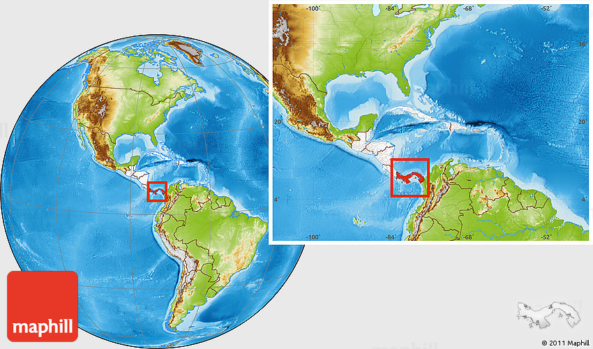 Physical Location Map Of Panama Highlighted Continent Within The - Where is panama on the map