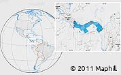 Political Location Map of Panama, lighten, desaturated