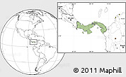 Savanna Style Location Map of Panama, blank outside