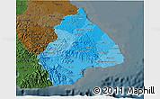 Political Shades 3D Map of Los Santos, darken