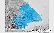 Political Shades 3D Map of Los Santos, desaturated