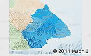 Political Shades 3D Map of Los Santos, lighten