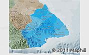 Political Shades 3D Map of Los Santos, semi-desaturated