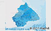 Political Shades 3D Map of Los Santos, single color outside