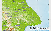 Physical Map of Las Tablas