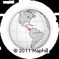 Outline Map of Las Tablas