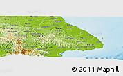 Physical Panoramic Map of Las Tablas