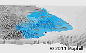 Political Shades Panoramic Map of Los Santos, desaturated