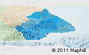 Political Shades Panoramic Map of Los Santos, lighten