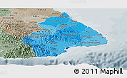 Political Shades Panoramic Map of Los Santos, semi-desaturated