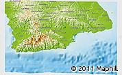 Physical 3D Map of Tonosi