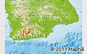 Physical Map of Tonosi