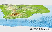 Physical Panoramic Map of Tonosi