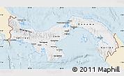 Classic Style Map of Panama, single color outside