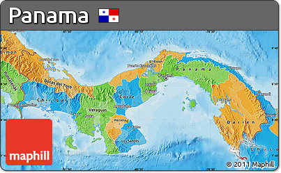 Free Political Map Of Panama