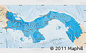 Political Shades Map of Panama, lighten