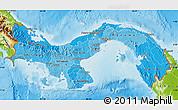 Political Shades Map of Panama, physical outside