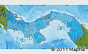 Political Shades Map of Panama, satellite outside, bathymetry sea