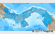 Political Shades Map of Panama, semi-desaturated, land only