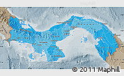 Political Shades Map of Panama, semi-desaturated