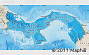 Political Shades Map of Panama, shaded relief outside, bathymetry sea