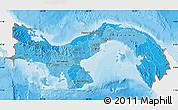 Political Shades Map of Panama, single color outside