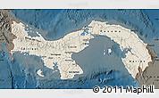 Shaded Relief Map of Panama, darken