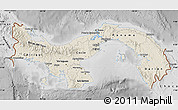 Shaded Relief Map of Panama, desaturated