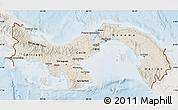 Shaded Relief Map of Panama, lighten