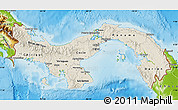 Shaded Relief Map of Panama, physical outside
